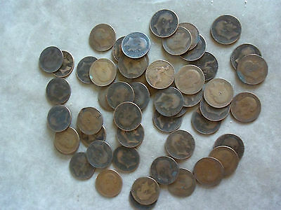 Large Collection Of Edward VII Penny Coins.