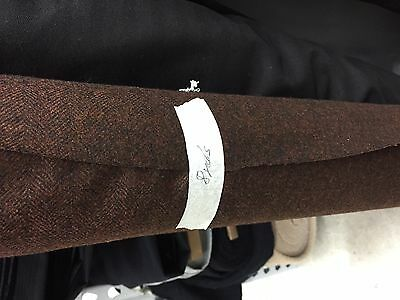 LORO PIANA FABRIC STORM SYSTEM WOOL SUITING  MSRP $800Y- burnt orange/br tweed
