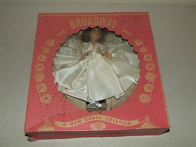 Antique 1940's Broadway Doll -A New Carol Creation with Original Box White Dress