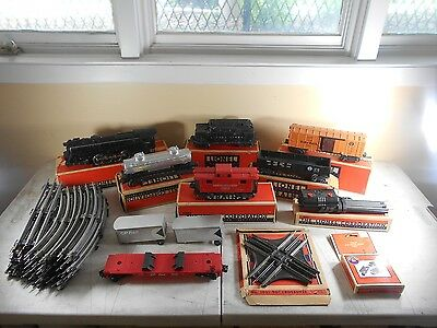 Lionel Post War 6-8-6 Locomotive 2020W Tender, 2454,2472,Train Lot Boxed & Track