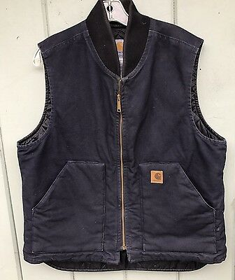 Carhartt Vest Mens Size L V02 MDT Quilted Insulated Lining Blue