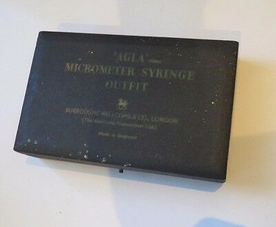 Vintage Burrough Wellcome & co micrometer syringe outfit