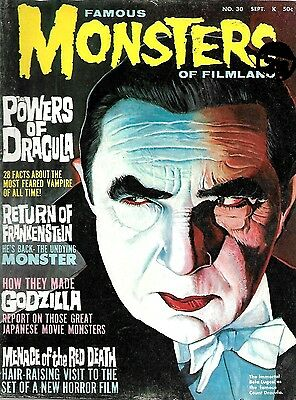 Warren Magazine Famous Monsters Of Filmland # 30 Fine Condition