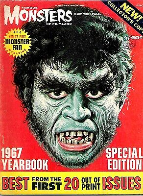 Warren Magazine Famous Monsters Of Filmland 1967 Yearbook Fine Condition
