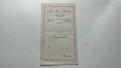 New Theatre Cardiff Aladdin Pantomime Programme 1942-43 Welsh Theatre Pantomimes