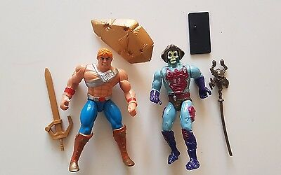 He-Man Lot - Battle Punch Heman + Skeletor - Masters Of The Universe