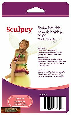 M00702a MOREZMORE Sculpey Polymer Clay Flexible Push Mold FAIRY DOLL T20