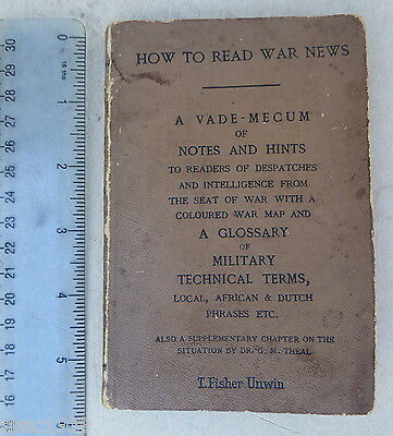 1900 How to Read War News, A glossary of Boer war Military & Technical Terms.