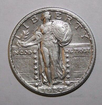 1920-S Standing Liberty Silver Quarter AS41