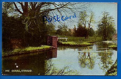 Old Postcard The Canal Stroud Gloucestershire Nr Cirencester Nailsworth Dursley