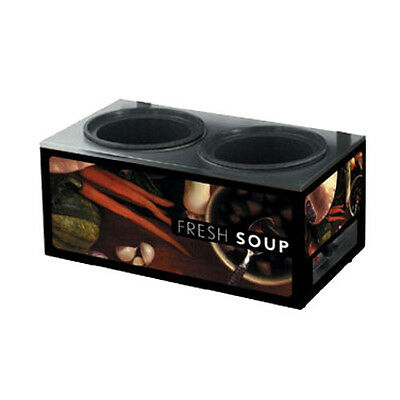 Vollrath 7203002 Cayenne Twin Well Soup Merchandiser (Base Only) Tuscan Graphics
