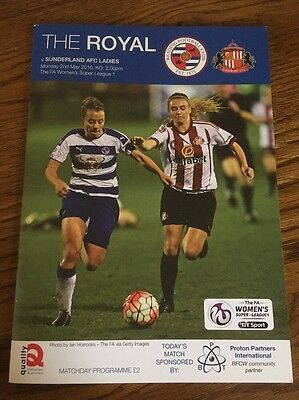 Reading Women v Sunderland Ladies 2 May 2016
