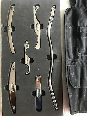 Graston Instruments with foam try and rollup travel case