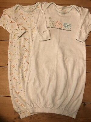 Mothercare Baby Girl/ Boy 0-3 Months Sleep Gowns