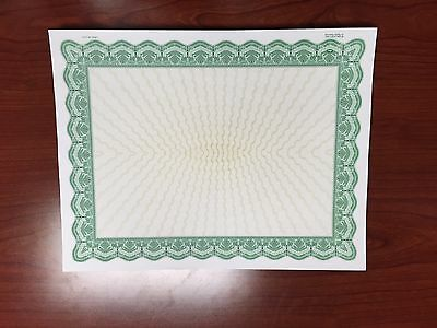 Goes Brand Green Bordered Certificates (100)