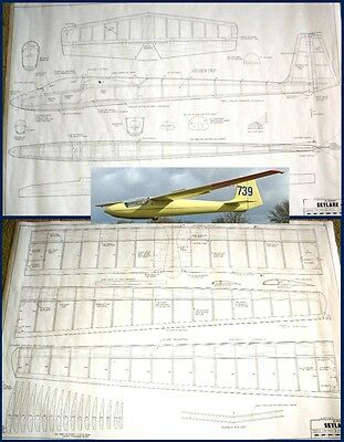 RC plans SLINGSBY SKYLARK 4 Semi-Scale 12' Sailplane for thermal or slope soarin