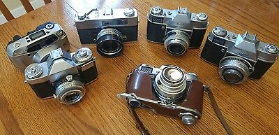 Camera Lot Kodak Retina Reflex, am551, Contaflex Zeiss Ikon