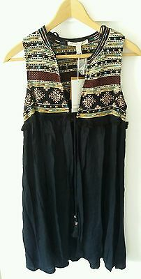 Zara bnwt embroidered long waistcoat boho festival new size small