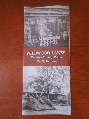 Wildwood Lakes Country Dining Room Brochure ~ Paoli, Indiana ~ Fishing Camping