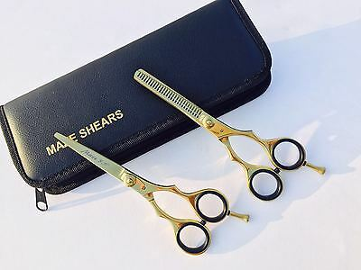 "5.5"" Professional Salon Hairdressing Hair Cutting Thinning Barber Scissors Set"