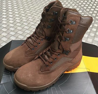 British Army Issue Yds Falcon Desert Boots Size 9M No.1 New Festivals Bikers