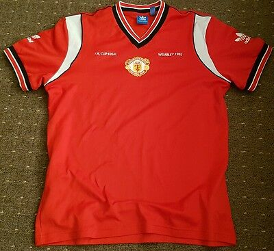 Manchester United Adidas Originals FA Cup Final Shirt Size Large