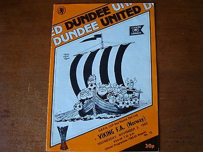 Dundee United V Viking Fa Nov 1982