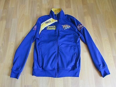 ISC LEEDS Rhinos Building Society PLAYERS Rugby League Jacket ADULT Size M
