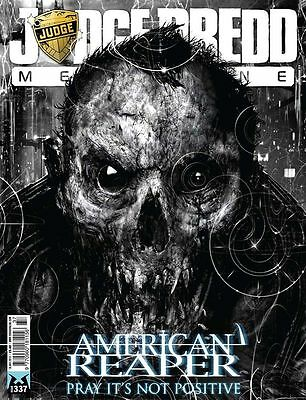 Judge Dredd Megazine Issue 337 With Black Light 2 Supplement New And Sealed