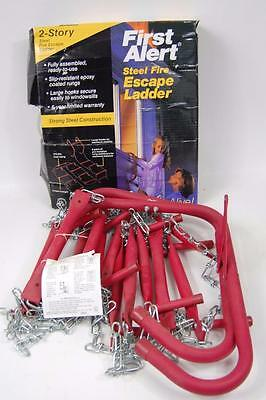 FIRST ALERT 2 Story STEEL FIRE ESCAPE LADDER 15 FT FULLY ASSEMBLED