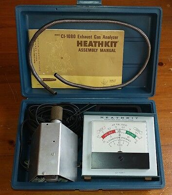 VINTAGE Heathkit Exhaust Gas Analyzer  Emissions Tester Model CI-1080 1970's