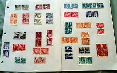 55 Mainly Fine Used Switzerland Stamps In Pairs & Blocks.