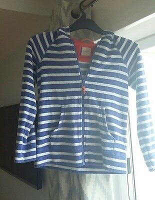 Girls purple Mini Boden towelling zip fleece age 11-12