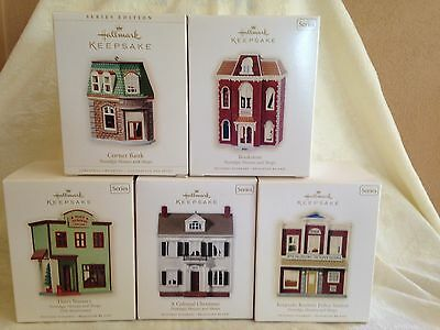 Hallmark Keepsake Ornament Nostalgic Houses & Shops #23 - #27 2006 - 2010