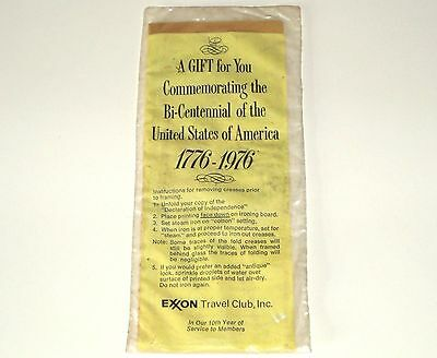 Vintage EXXON TRAVEL CLUB Declaration of Independence ~ STILL SEALED ~ c.1976