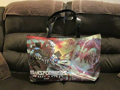 Transformers The Last Knight Movie Large Tote Bag 2017 toy Promo RARE swag NEW !