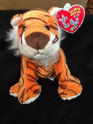 TY BEANIE BABY- Oasis Striped Tiger 2.0 Preloved W Tags