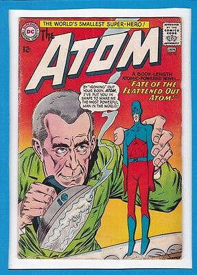 "The Atom #16_Jan 1965_Good/very Good_""fate Of The Flattened-Out Atom""_Silver Age"