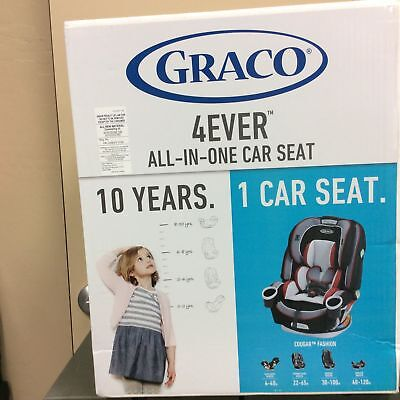 NEW Graco 4ever All-in-One Baby Infant Toddler Car Seat Booster Cougar Fashion