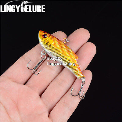 1pcs Metal Spoon Fishing Lures Bass CrankBait Crank Bait Tackle Treble Hook VIB