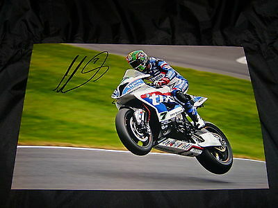Michael Laverty Signed 2016 Bsb British Superbikes 12 X 8 Photo