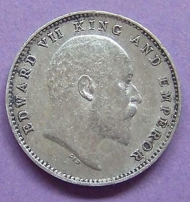 India - Edward Vll - silver 2 Annas 1904..................Ju182