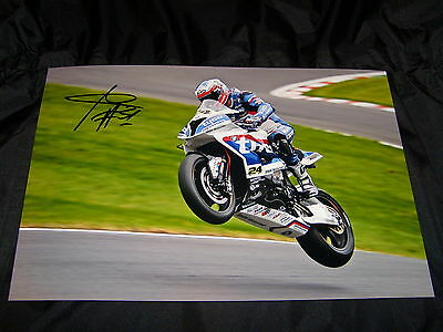 Christian Iddon Signed 2016 Bsb British Superbikes 12 X 8 Photo