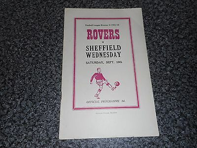 DONCASTER  ROVERS  v  SHEFFIELD WEDNESDAY  1955/6 ~ SEPTEMBER 10th   BOXING DAY