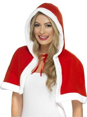 Miss Claus Mini Cape Adult Womens Smiffys Fancy Dress Costume Accessory
