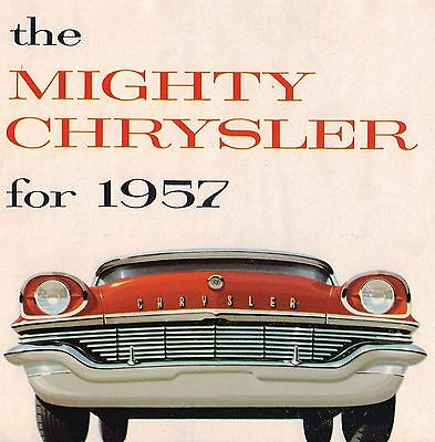 1957 Chrysler Brochure: WINDSOR,SARATOGA,NEW YORKER,Convertible, Town & Country