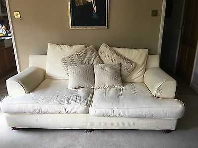 Two Cream Sofas, 2 Seater and 3 Seater- Signs of Wear