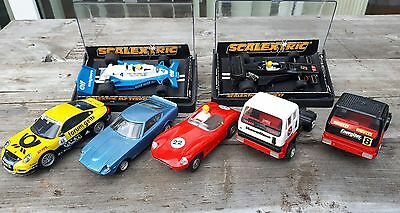 Job Lot Scalextric Cars Aston Martin Tr7 Datsun Trucks Porsche Lotus Jps Tyrrell