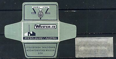 Wrapper with blade / Lame de Rasoir / Rasierklingen / Lametta da Barba 198