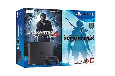 PlayStation 4 1 Tb D Chassis Slim + Uncharted 4 + Tomb Raider [Bundle]